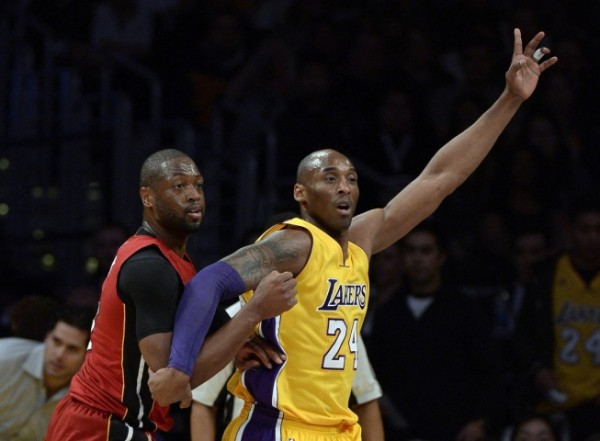 Dwyane Wade and Kobe Bryant