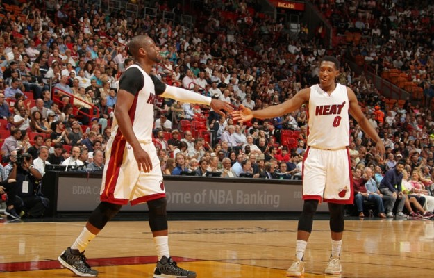 Dwyane Wade and Josh Richardson