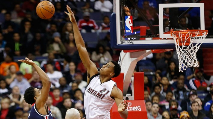 Hassan Whiteside Miami Heat blocking