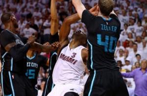 Dwyane Wade Cody Zeller Charlotte Hornets Game 5