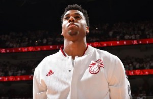 Hassan Whiteside warmups