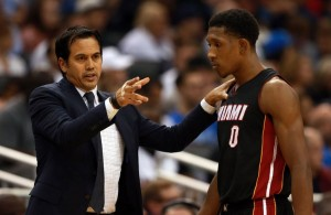 Erik Spoelstra and Josh Richardson
