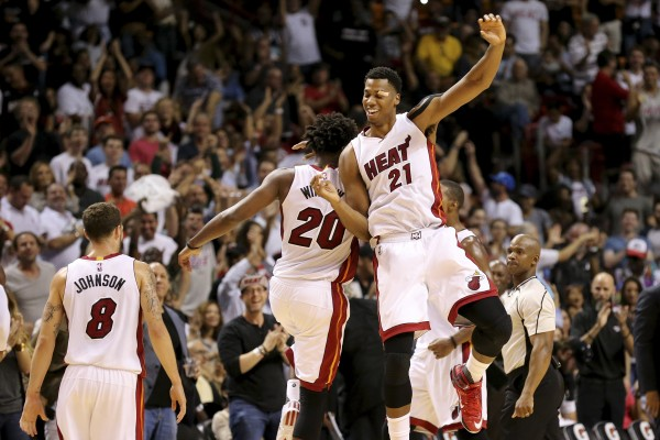 Justise Winslow and Hassan Whiteside