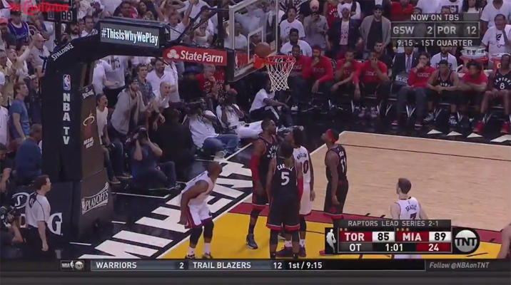 Dwyane Wade Ball Gets Stuck