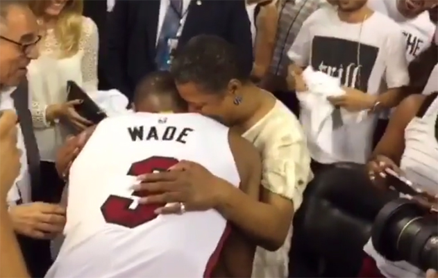 Dwyane Wade and His Mom