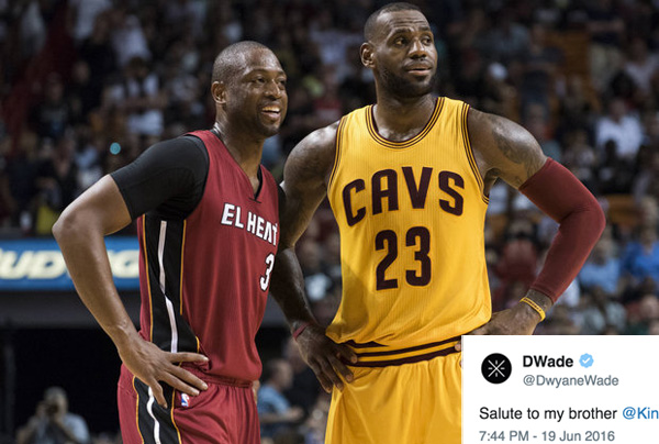 Dwyane Wade Gives Shout out to LeBron James and Cavs
