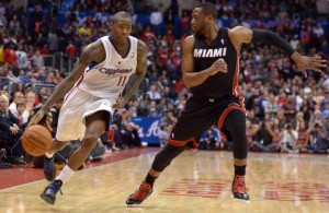 Jamal Crawford and Dwyane Wade