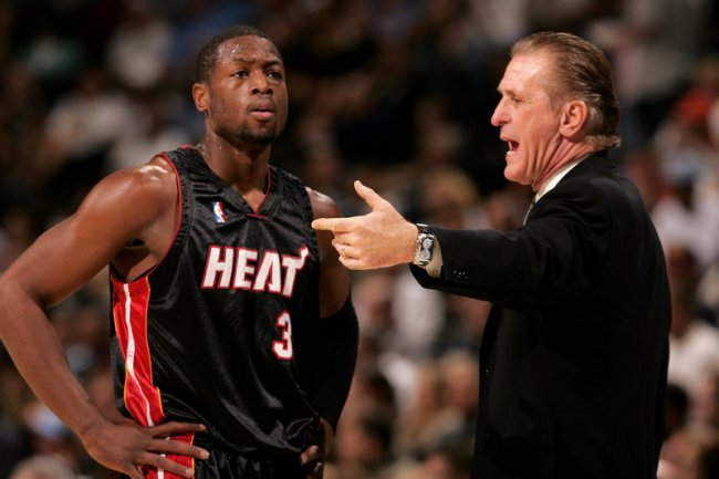 Dwyane Wade and Pat Riley