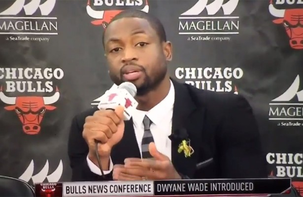 Dwyane Wade Chicago Bulls Press Conference