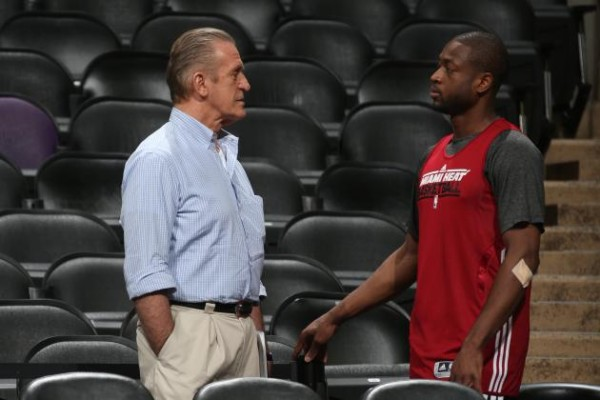 Pat Riley and Dwyane Wade