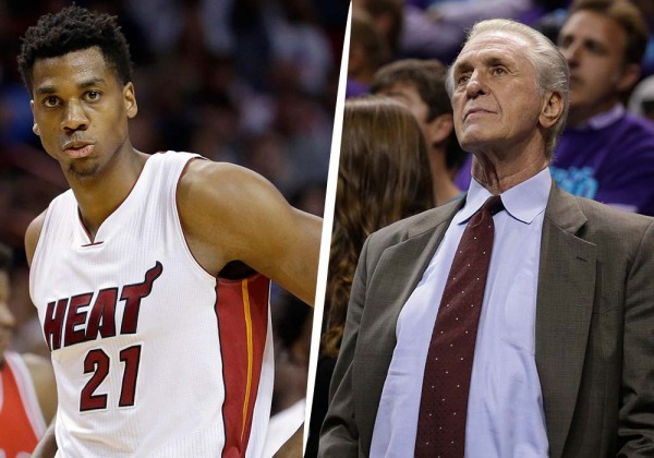 Hassan Whiteside Pat Riley