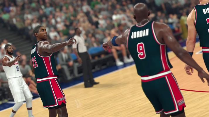 Magic Johnson and Michael Jordan NBA 2K17