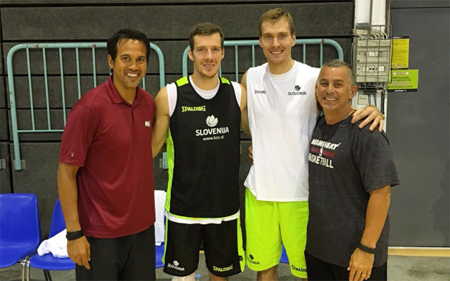 Erik Spoelstra and Goran Dragic