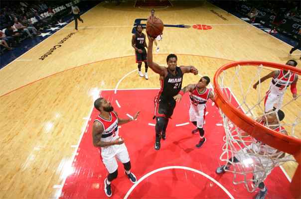 Hassan Whiteside Dunk Washington Wizards