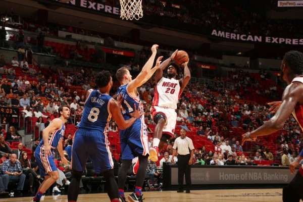 Justise Winslow Miami Heat Philadelphia 76ers
