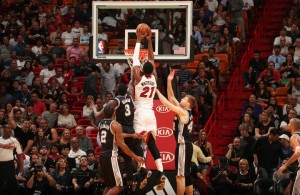 Hassan Whiteside Dunk Spurs
