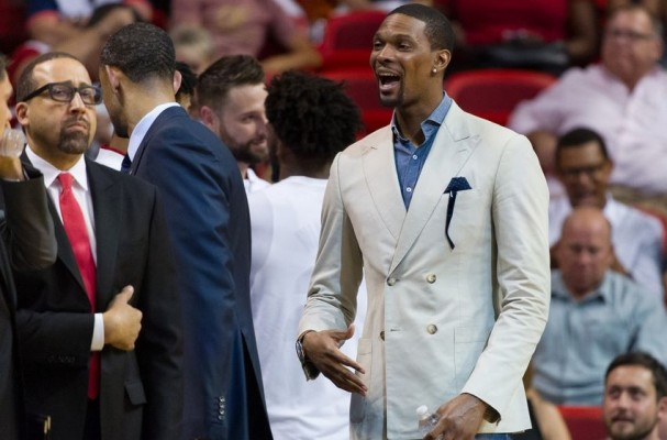 Chris Bosh Miami Heat Bench
