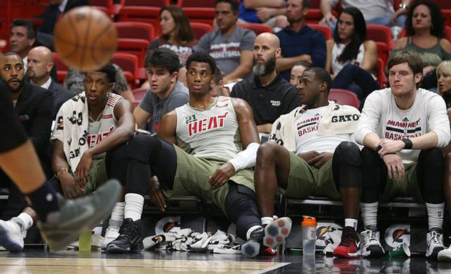 Josh Richardson, Hassan Whiteside, Dion Waiters, Luke Babbitt