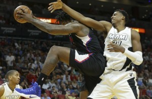 DeAndre Jordan and Hassan Whiteside
