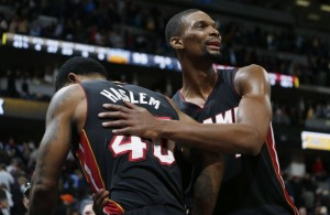 Udonis Haslem and Chris Bosh