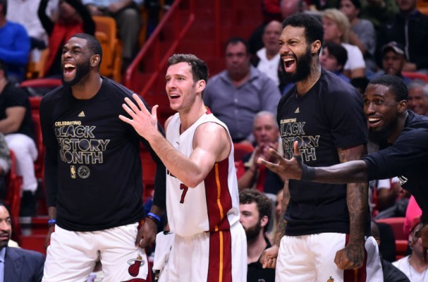 Willie Reed, Goran Dragic, James Johnson, Okaro White Miami Heat