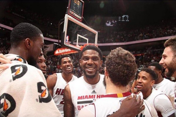 Udonis Haslem and His Miami Heat Teammates
