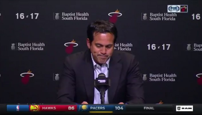 Video: Erik Spoelstra Visibly Devastated in Heat's Final Press Conference