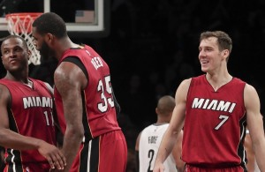 Dion Waiters, Willie Reed, and Goran Dragic