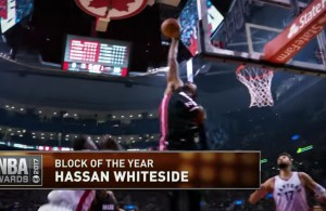 Hassan Whiteside Nominated for NBA's Block of the Year