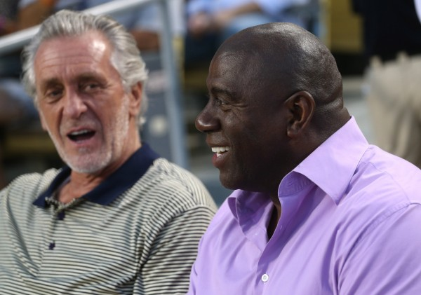 Pat Riley and Magic Johnson