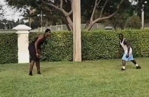 Video: Hassan Whiteside Goes at It With Antonio Brown in 2-on-2 Football