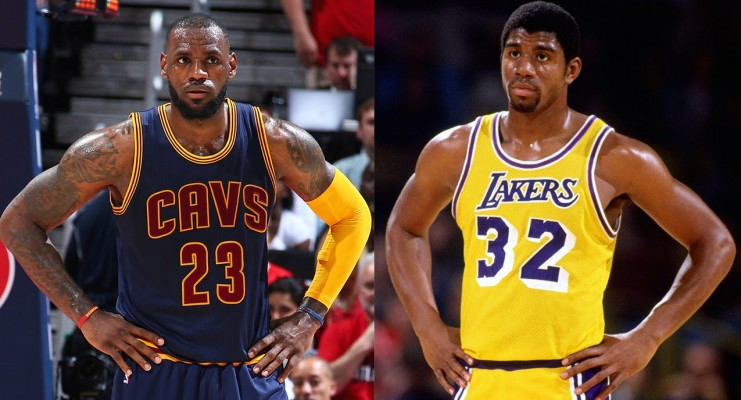 ccd58ae13 Pat Riley Says Magic Johnson Could Beat LeBron James One-on-One
