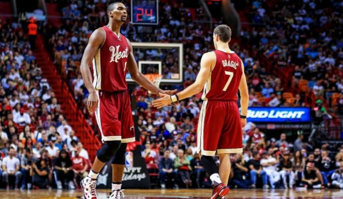 Chris Bosh and Goran Dragic Miami Heat