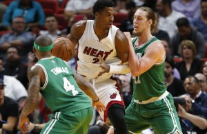 Hassan Whiteside and Kelly Olynyk Miami Heat