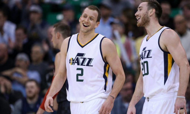 Joe Ingles and Gordon Hayward