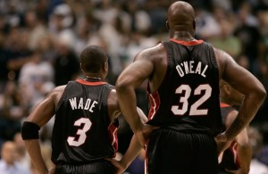 Dwyane Wade and Shaquille O'Neal