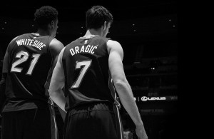 Hassan Whiteside and Goran Dragic