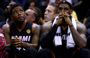 LeBron James and Udonis Haslem Miami Heat