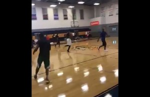 Hassan Whiteside and Kyrie Irving Pickup Basketball