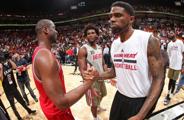 Dwyane Wade and Udonis Haslem Chicago Bulls