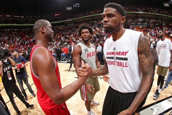 Dwyane Wade and Udonis Haslem Chicago Bulls