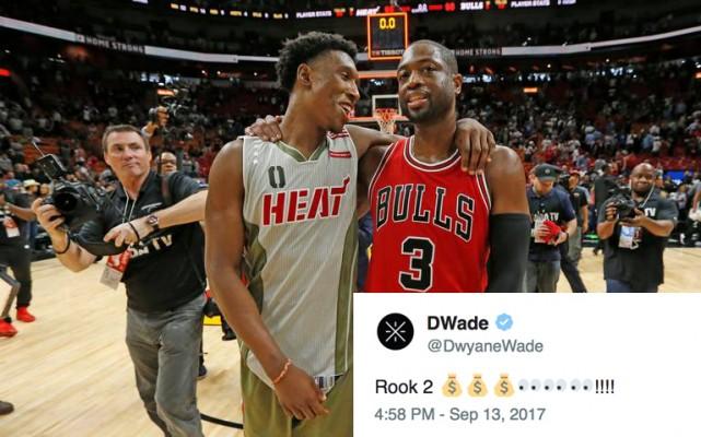 Josh Richardson and Dwyane Wade, Heat and Bulls
