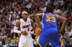 LeBron James and Draymond Green Miami Heat