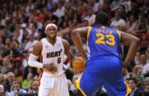 LeBron James and Draymond Green Miami Heat
