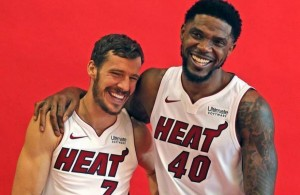 Goran Dragic and Udonis Haslem