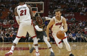 Goran Dragic and Hassan Whiteside Miami Heat