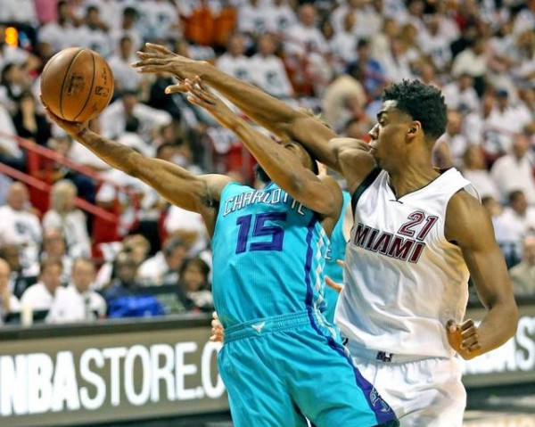 Hassan Whiteside and Kemba Walker