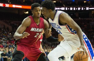 Hassan Whiteside and Joel Embiid