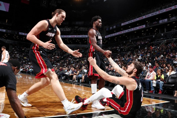 Kelly Olynyk, Justise Winslow, and Tyler Johnson