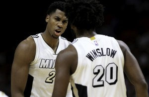 Hassan Whiteside and Justise Winslow